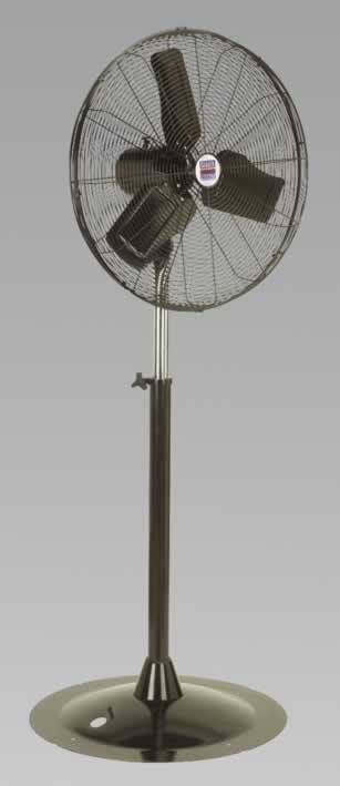 "Industrial High Velocity Pedestal Fan 24"" 230V"