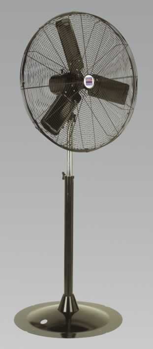 "Industrial High Velocity Pedestal Fan 30"" 230V"
