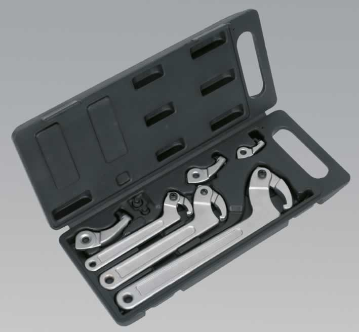 Adjustable Hook & Pin Wrench Set 11pc