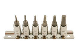 "Hex Bit Set 1/4""D 6pc"