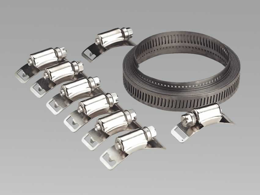 Hose Clamp Set Self-Build 12.7mm Band Width