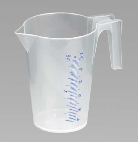 Measuring Jug Translucent 0.5ltr   (6-20)