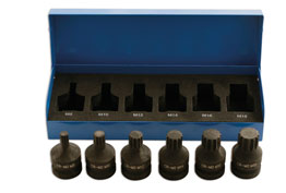 "Laser 4939 Spline Bit Set 1/2""D - Impact Quality 6pc  (AHA)"