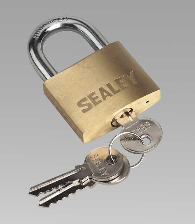 Padlock with Brass Cylinder 50mm