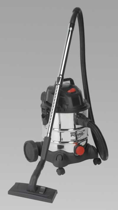 Vacuum Cleaner Industrial Wet & Dry 20ltr 1250W/230V Stainless Bin