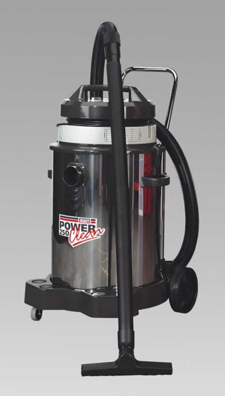 Vacuum Cleaner Industrial Wet & Dry 50ltr 1200W/230V Stainless Bin