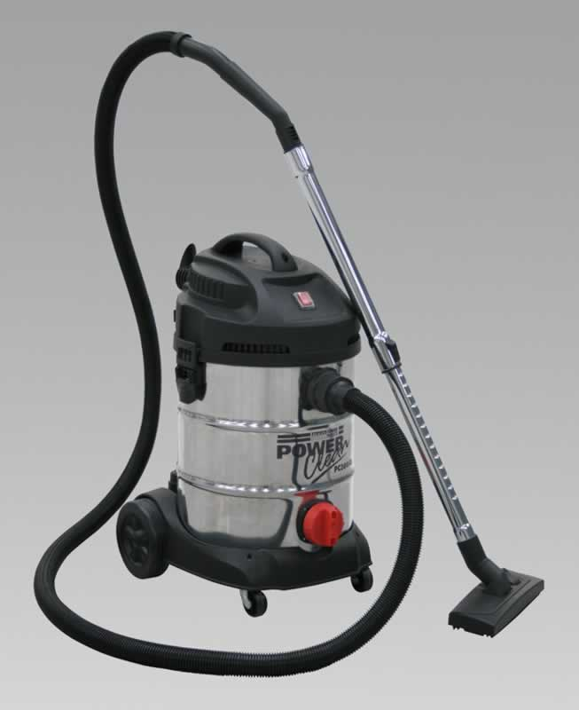 Vacuum Cleaner Industrial 30ltr 1400W/230V Stainless Bin