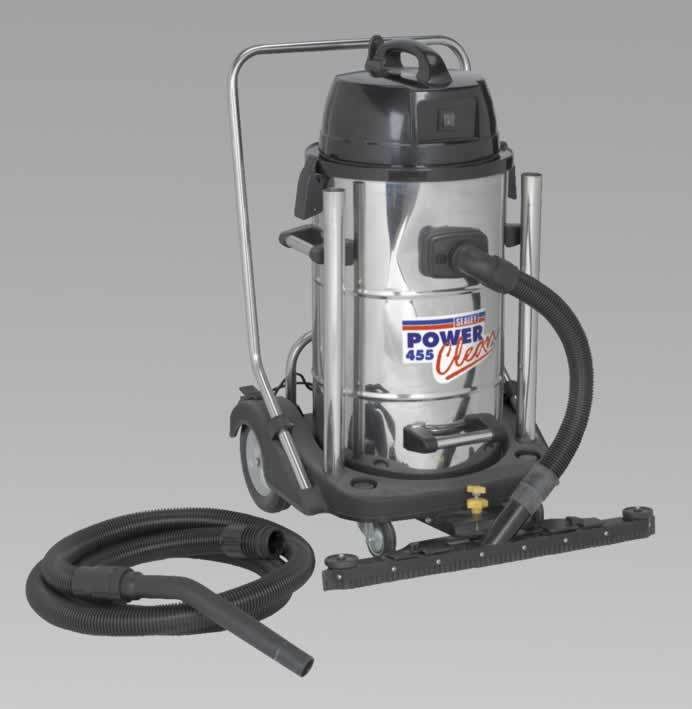 Industrial Wet & Dry Vacuum Cleaner 55ltr Stainless Drum 1050W/230V