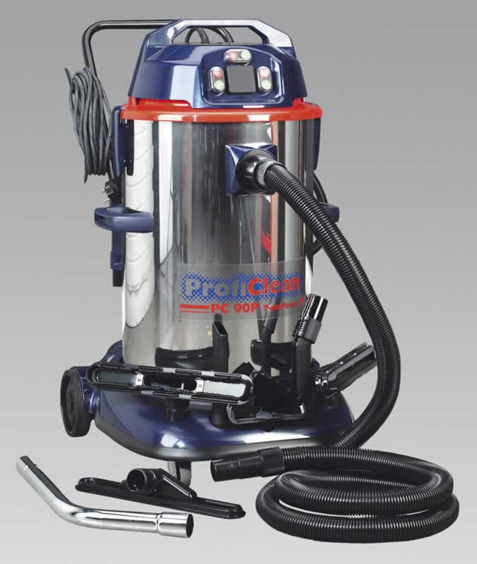 Vacuum Cleaner Industrial Wet & Dry Twin Motor 90ltr 1200/2400W/230V with Pump