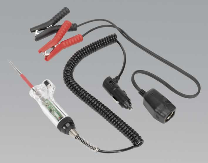 Circuit Tester with Light & Cigarette Lighter Connector 6-24V