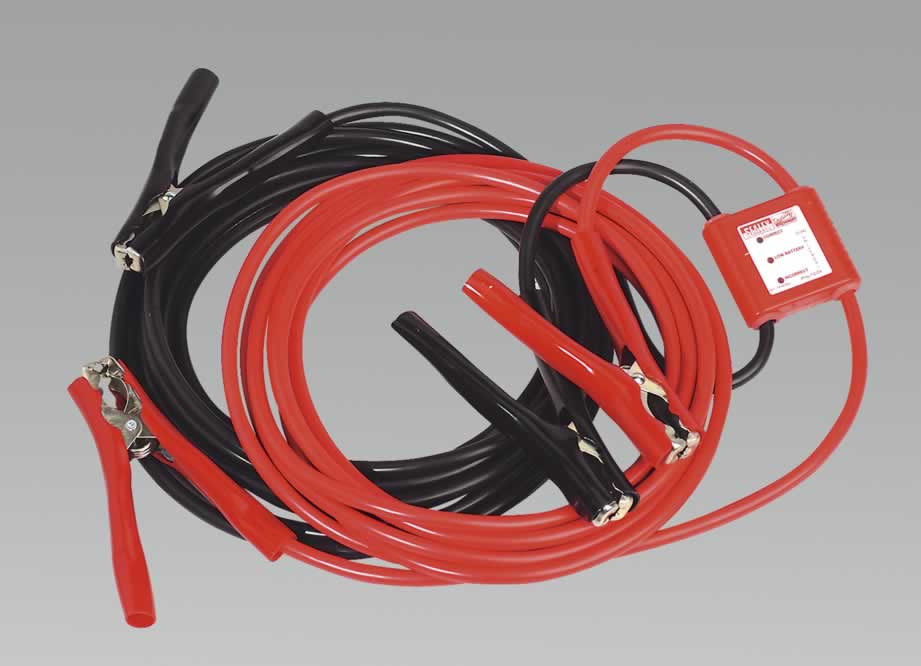 Booster Cables 7mtr 450Amp 25mm² with 12/24V Electronics Protection
