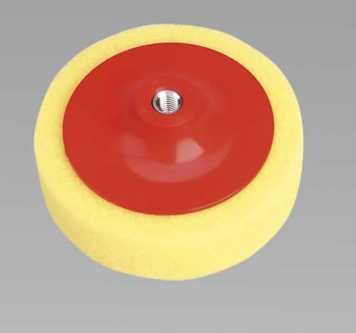 "Buffing & Polishing Foam Head 150 x 50mm 5/8"" UNC Yellow/Coarse"