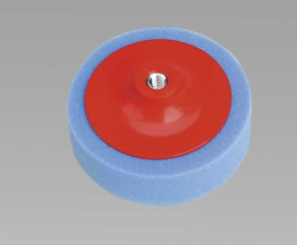 Buffing & Polishing Foam Head 150 x 50mm M14 Blue/Medium