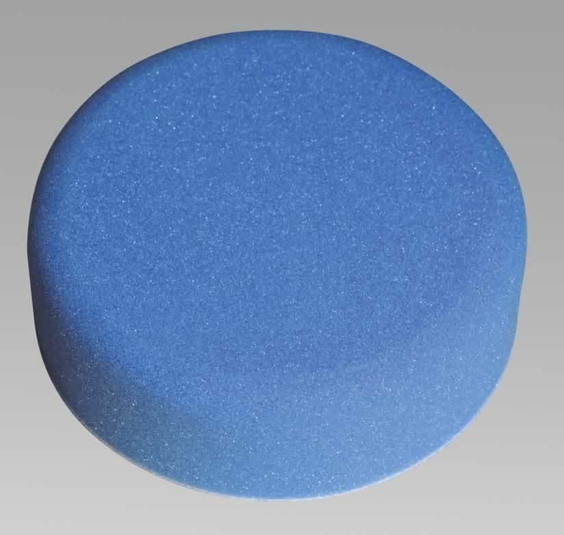 Buffing & Polishing Foam Head Hook & Loop 150 x 50mm Blue/Soft