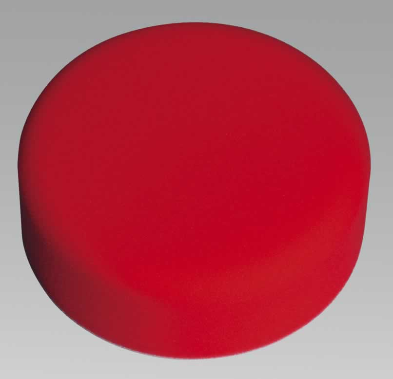 Buffing & Polishing Foam Head Hook & Loop 150 x 50mm Red/Ultra Soft