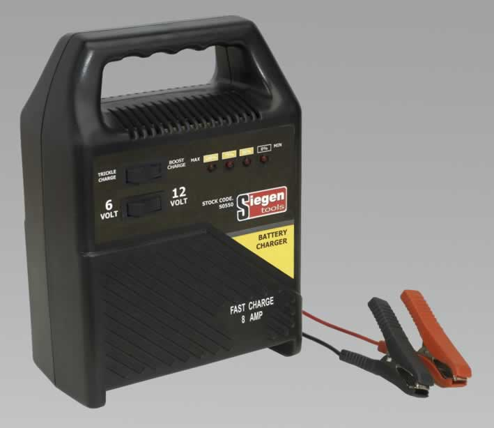 Battery Charger 6/12V 8Amp 230V