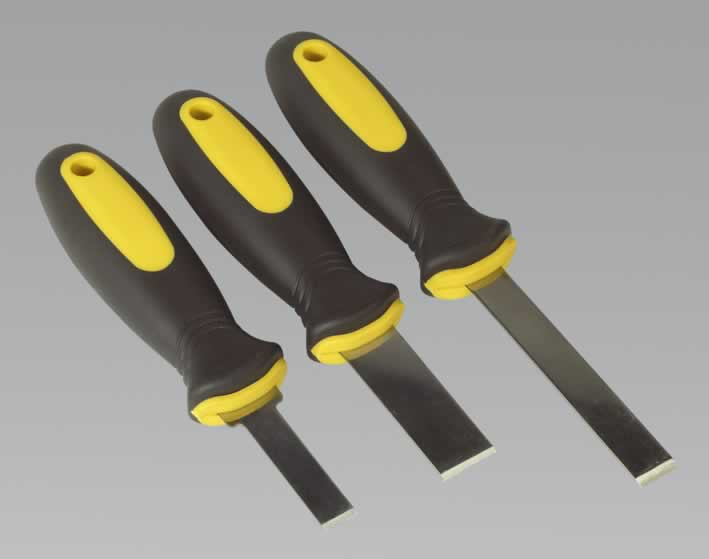Rigid Blade Scraper Set 3pc