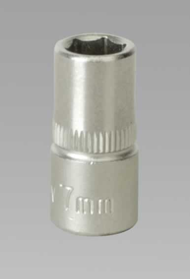 "WallDrive Socket 7mm 1/4""Sq Drive"