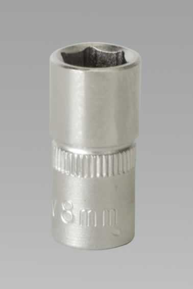 "WallDrive Socket 8mm 1/4""Sq Drive"