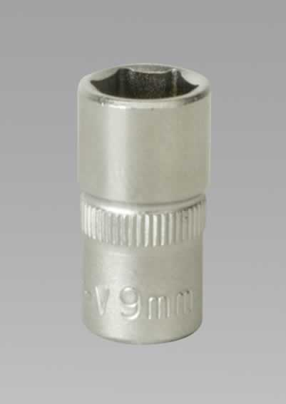 "WallDrive Socket 9mm 1/4""Sq Drive"