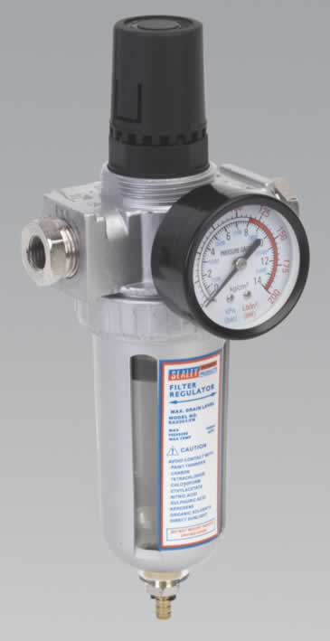 Air Filter/Regulator with Gauge Heavy-Duty