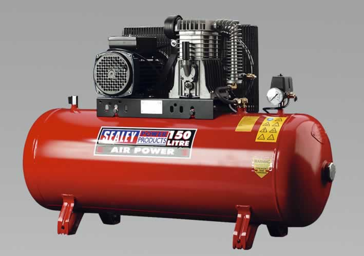Compressor 150ltr Belt Drive with Alloy Cylinders 3.0hp