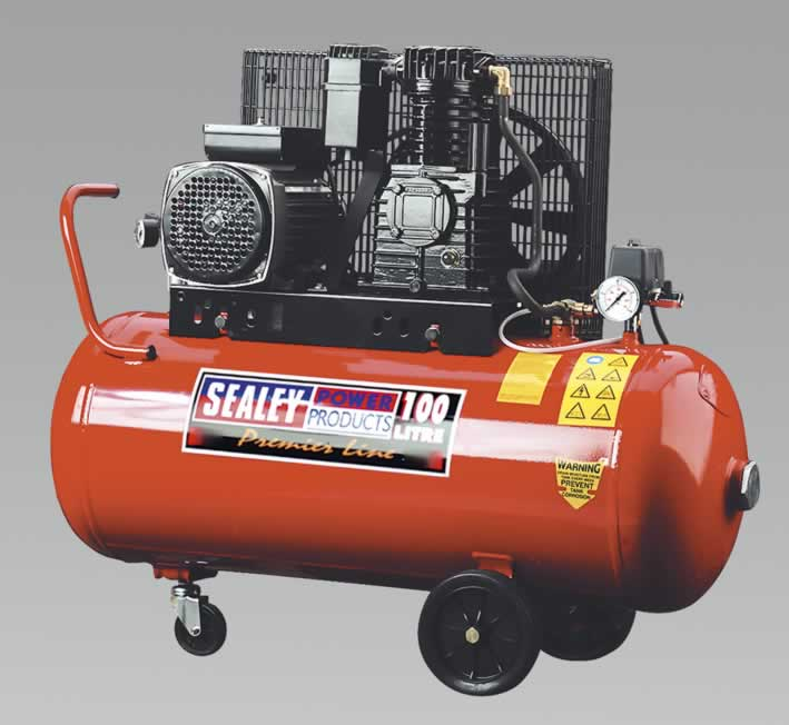 Compressor 100ltr Belt Drive 3.0hp with Cast Iron Cylinders