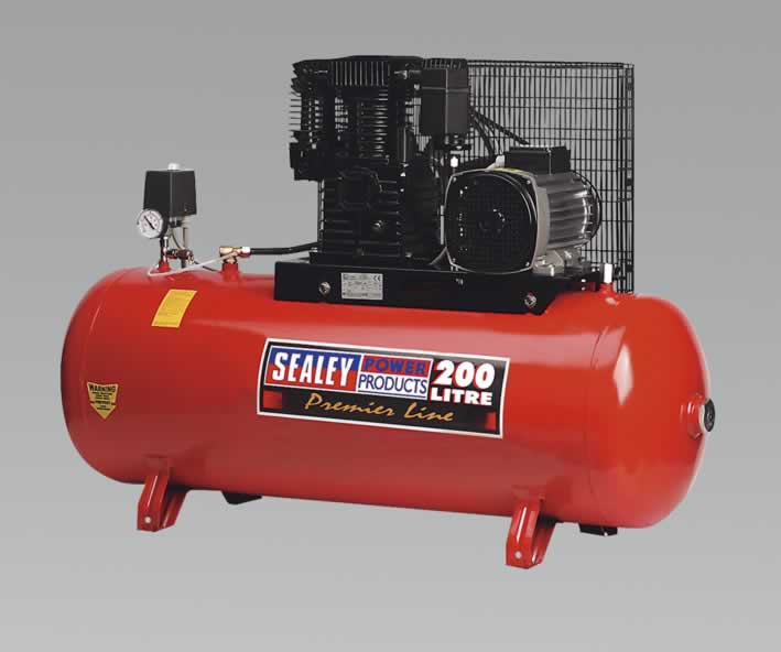 Compressor 200ltr Belt Drive 5.5hp 3ph 2-Stage Cylinder