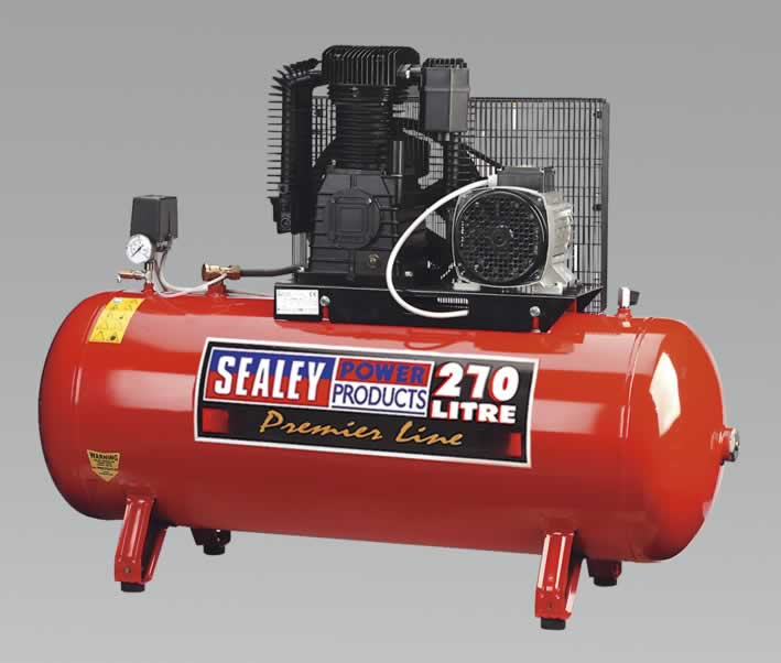 Compressor 270ltr Belt Drive 7.5hp 3ph 2-Stage Cylinder
