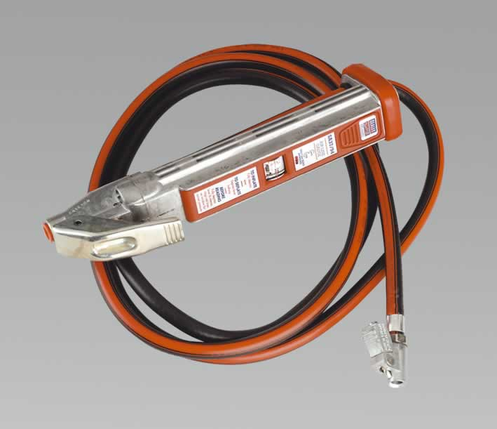 Professional Tyre Inflator with 2.75mtr Hose & Clip-On Connector