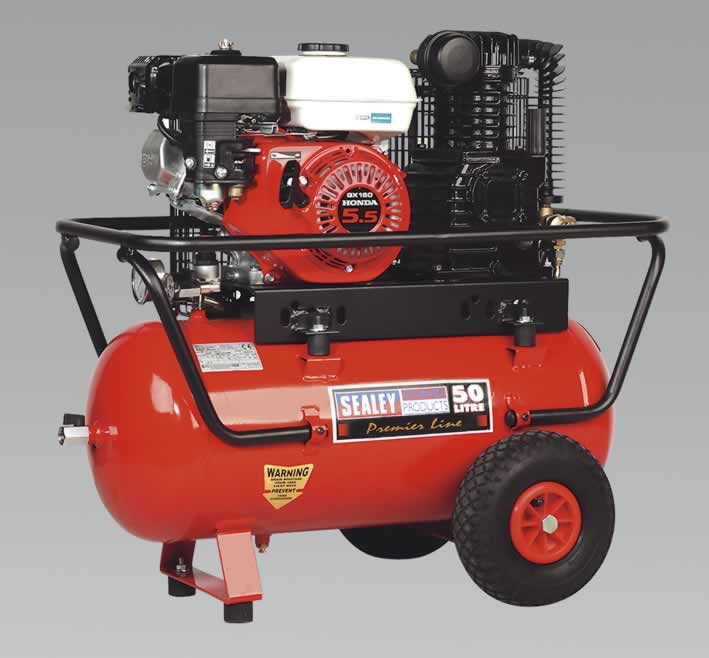 Compressor 50ltr Belt Drive Petrol Engine 5.5hp