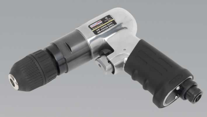 Air Pistol Drill with 10mm Keyless Chuck Super-Duty