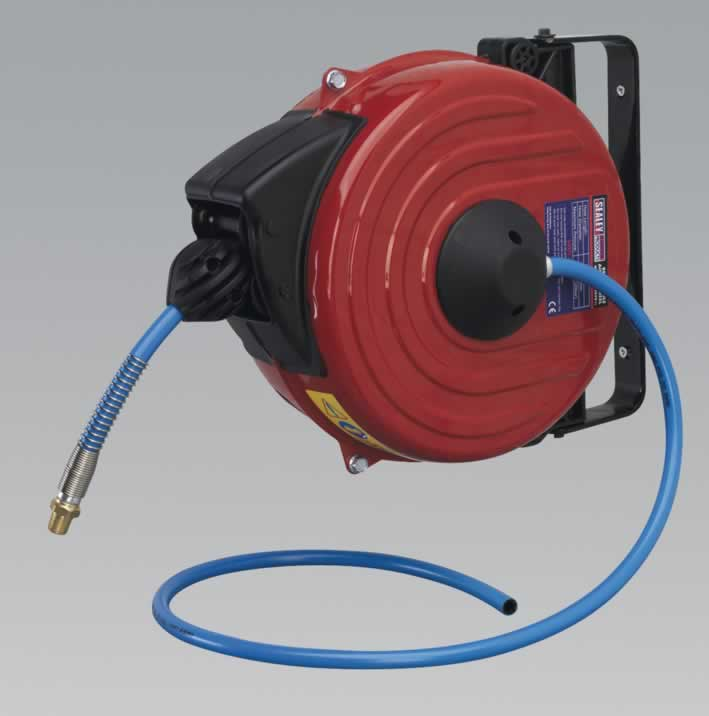 Retractable Air Hose Reel 12mtr Ø8mm ID TPU Hose