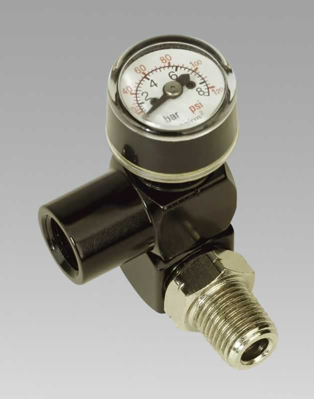 "Universal Swivel Adaptor 1/4""BSP with Pressure Gauge"