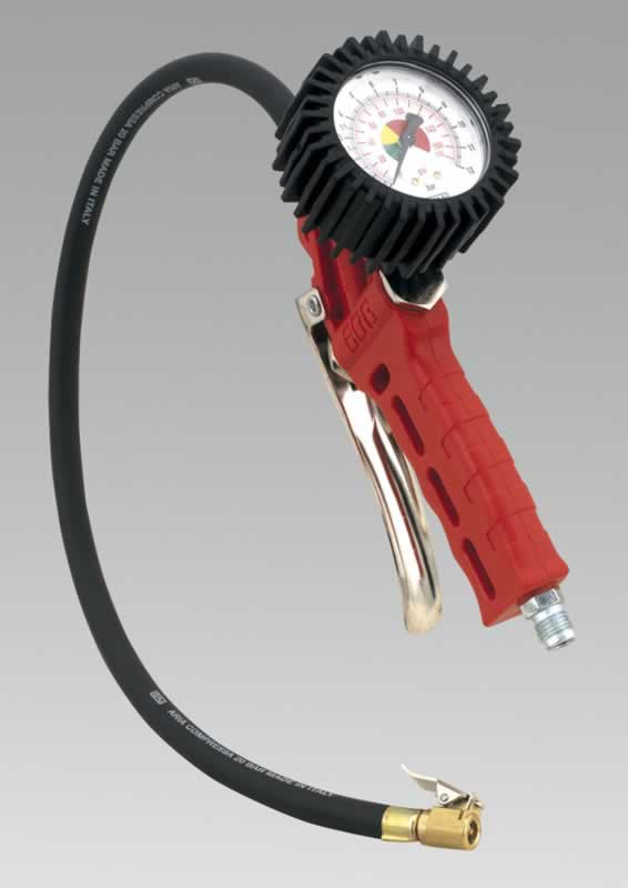 Professional Tyre Inflator with Clip-On Connector
