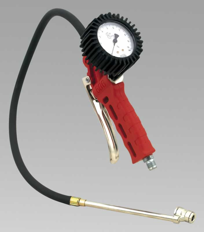 Professional Tyre Inflator with Twin Push-On Connector