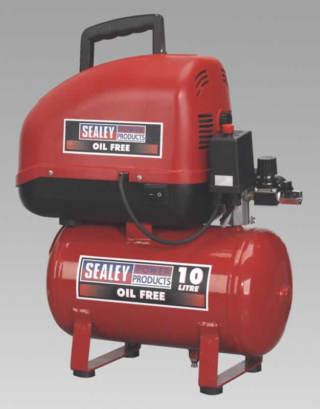 Compressor 10ltr Direct Drive 1.5hp Oil Free