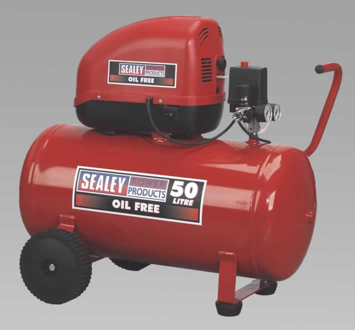 Compressor 50ltr Direct Drive 1.5hp Oil Free