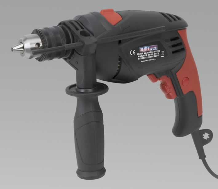 Hammer Drill 13mm Variable Speed with Reverse 810W/230V   (AHCC)