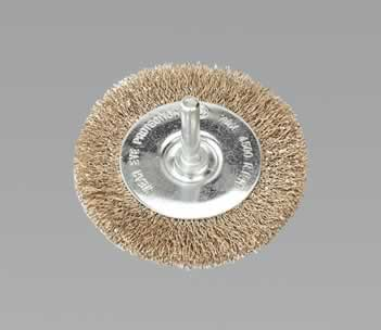 Flat Wire Brush 75mm with 6mm Shaft