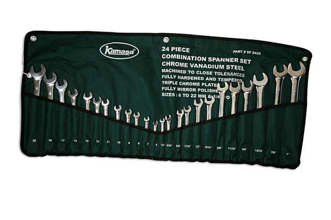 Wrench Set - Combination 24pc
