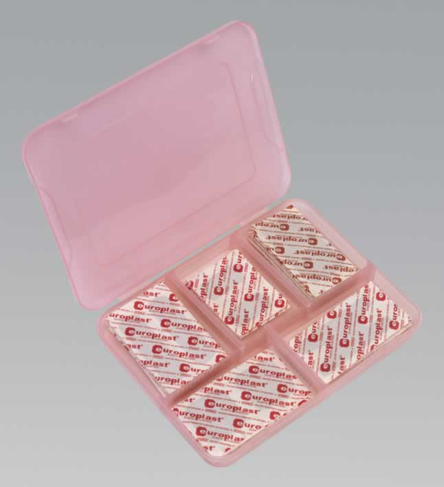 Assorted Elastic Plasters with Storage Case 100pc