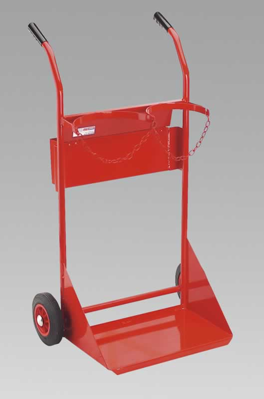 Welding Bottle Trolley with Storage Box