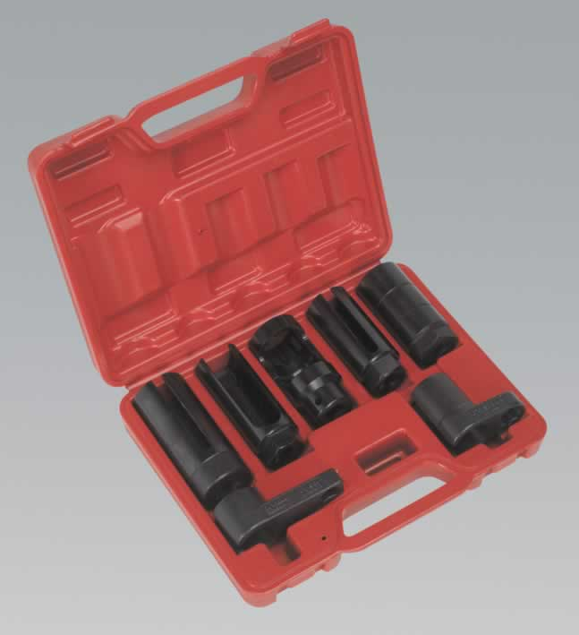 "Oxygen Sensor Socket Set 7pc 3/8"" & 1/2""Sq Drive"