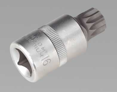 "Security XZN-Spline Socket Bit M16 1/2""Sq Drive  (AHA)"