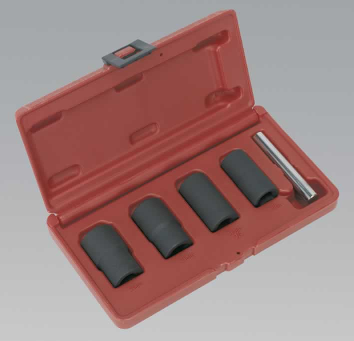 "Locking Wheel Nut Removal Set 17, 19, 21, 22mm 1/2""Sq Drive"