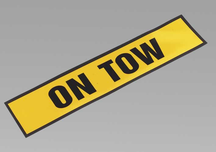 "Magnetic Sign ""ON TOW"""