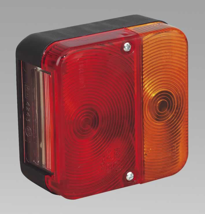 Rear Square Lamp Cluster 12V with Bulbs