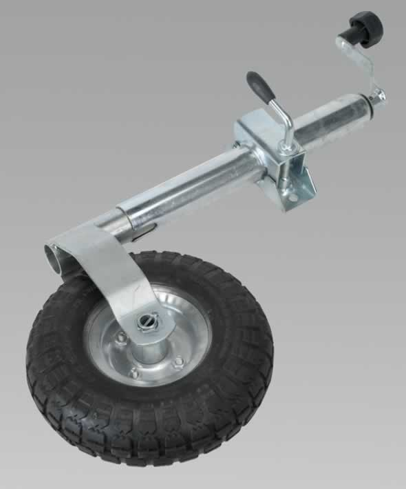 Jockey Wheel & Clamp Ø48mm - 260mm Pneumatic Wheel