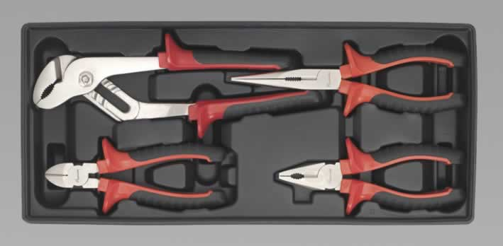Tool Tray with Pliers Set 4pc